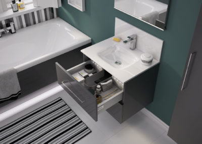 M-Series 2 Drawer Vanity Unit