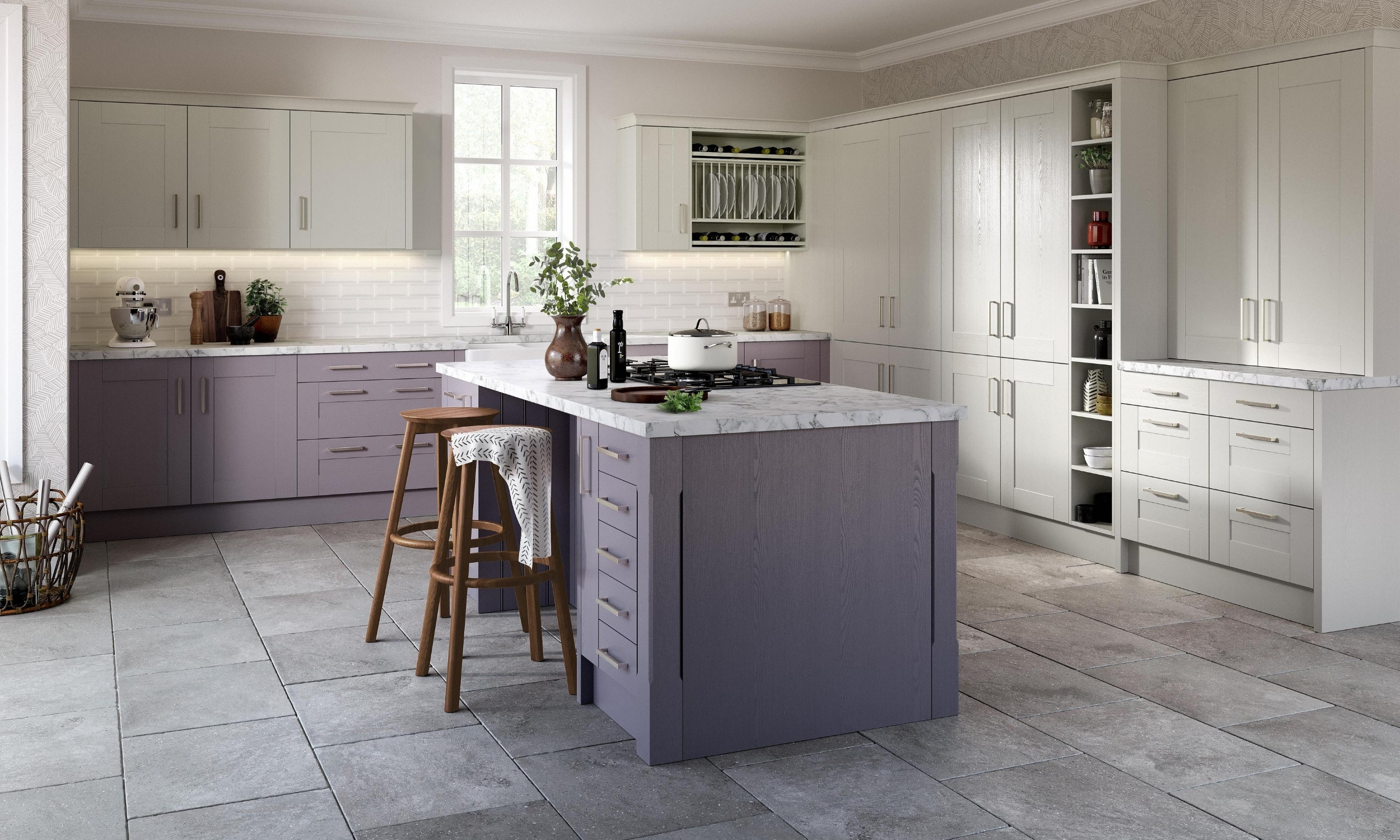 kitchen with marble surface
