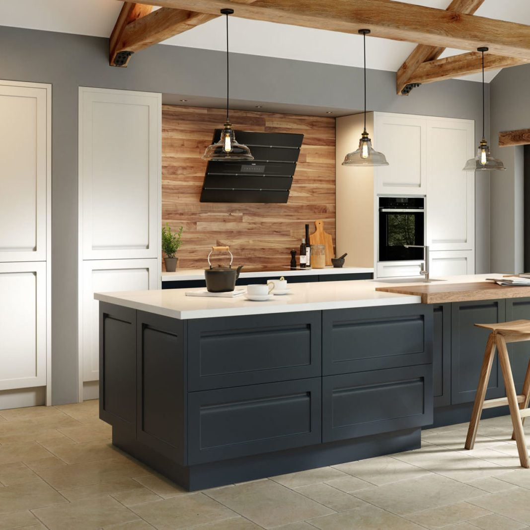 Savoy Painted Limestone and Anthracite Kitchen