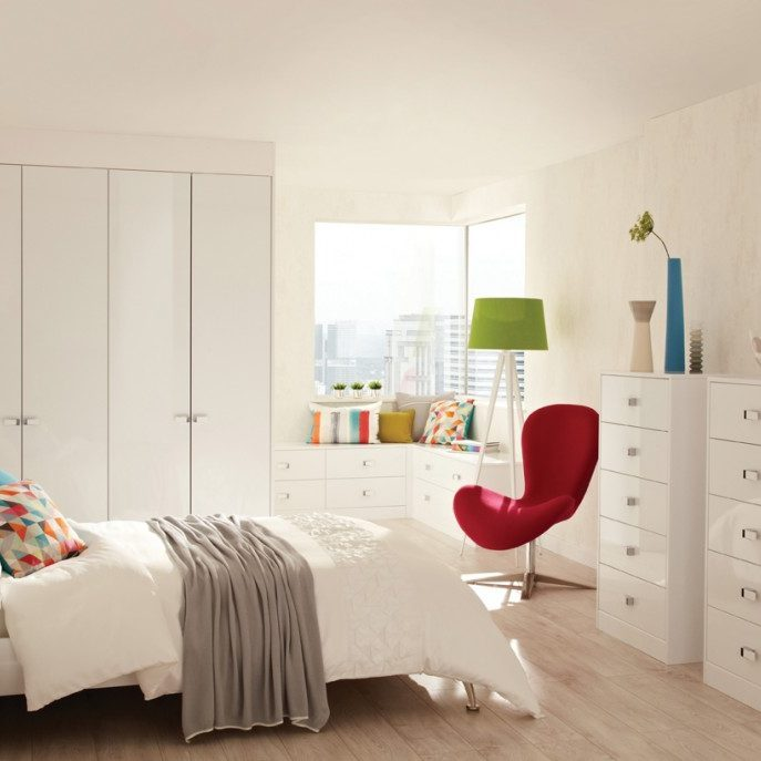 contemporary bedroom surrey