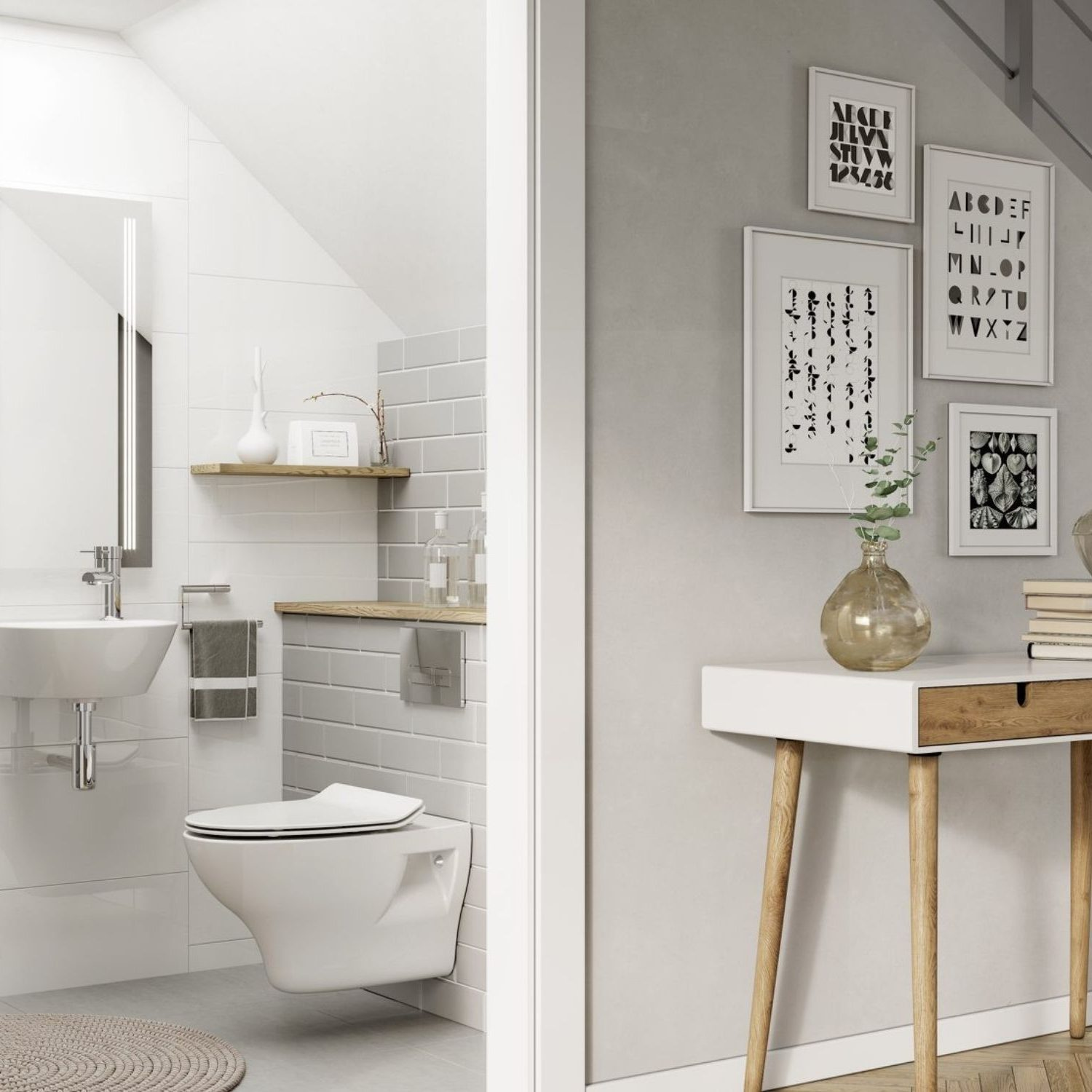white bathroom design surrey